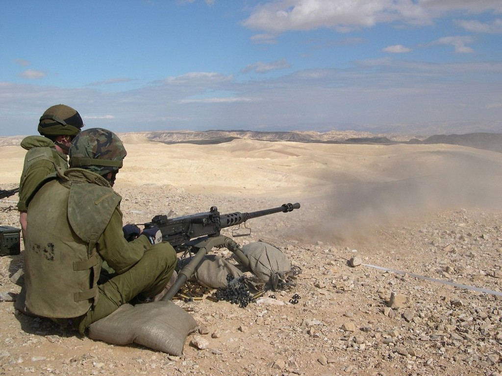 Soldiers in the desert